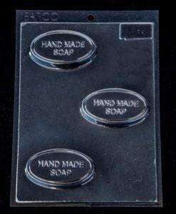slim oval soap mould