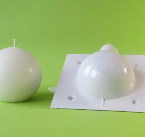ball candle mould 100mm