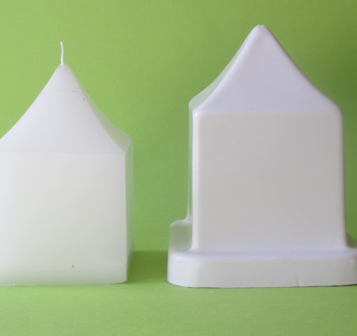 medium pointy square candle mould