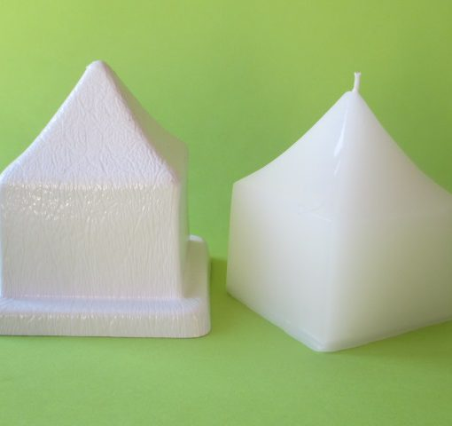 short pointy square candle mould