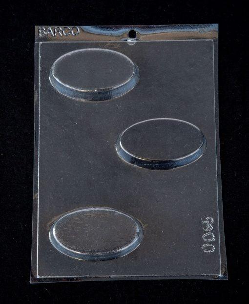 plain slim oval soap mould