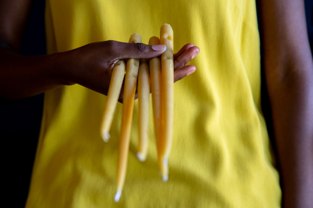 dinner candles made from beeswax 500g